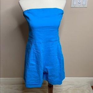 Theory strapless romper